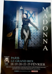 MADAME X  - FRANCE (LE GRAND REX) TOUR PROMO  POSTER